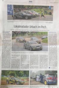 Kinzigtal-Nachrichten 21092021 Lokalmatadoe Urbach im Pech